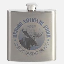 Acadia National Park (moose) Flask