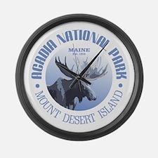 Acadia National Park (moose) Large Wall Clock