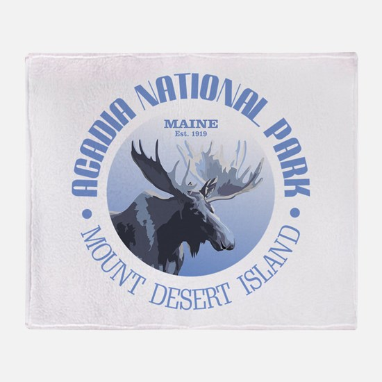 Acadia National Park (moose) Throw Blanket