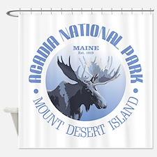 Acadia National Park (moose) Shower Curtain