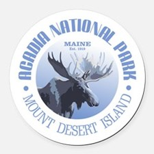 Acadia National Park (moose) Round Car Magnet