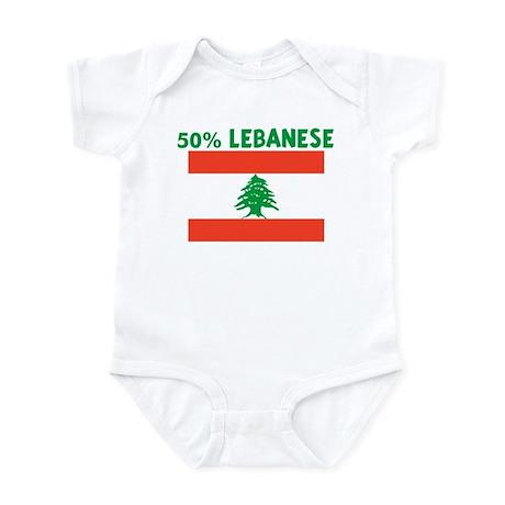 50 PERCENT LEBANESE Infant Bodysuit