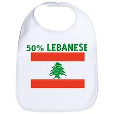 50 PERCENT LEBANESE Bib