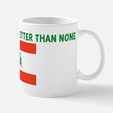 50 PERCENT LEBANESE IS BETTER Mug