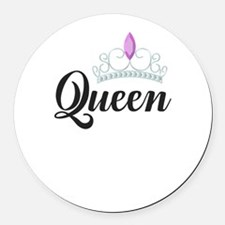 king and queen couple Round Car Magnet