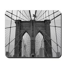 Brooklyn Bridge B&W Mousepad