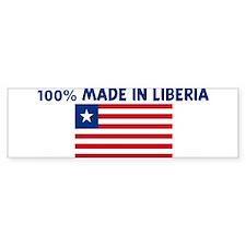 100 PERCENT MADE IN LIBERIA Bumper Bumper Sticker