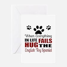 Hug The English Toy Spaniel Greeting Card