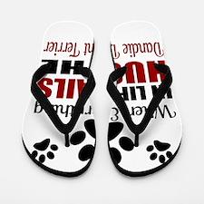 Hug The Dandie Dinmont Terrier Flip Flops