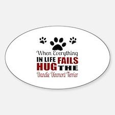 Hug The Dandie Dinmont Terrier Sticker (Oval)