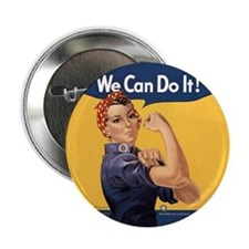 "Rosie the Riveter We Can Do It 2.25"" Button"