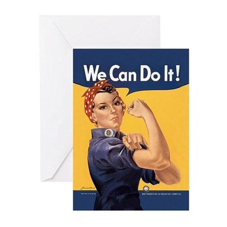 Rosie the Riveter We Can Do It Greeting Cards (Pk