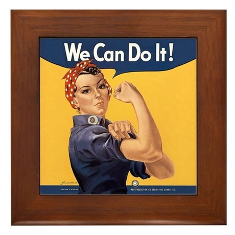 Rosie the Riveter We Can Do It Framed Tile