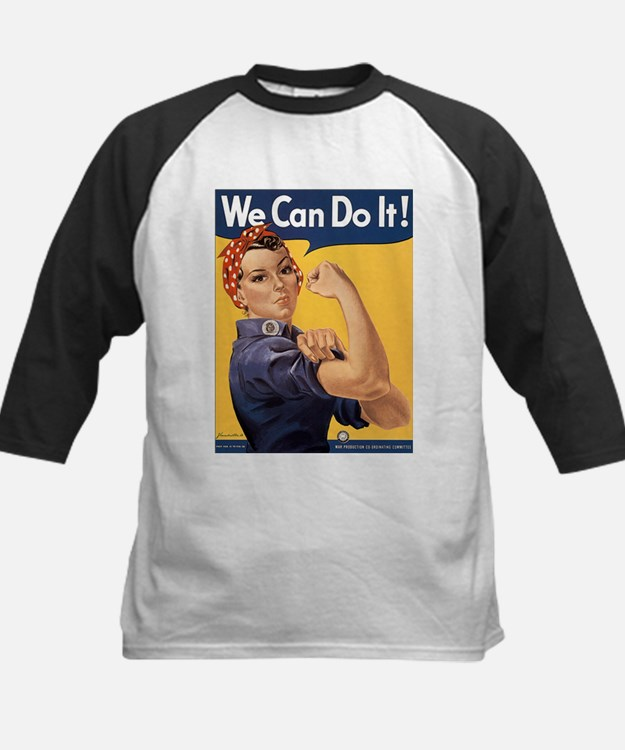 Rosie the Riveter We Can Do It Kids Baseball Jerse