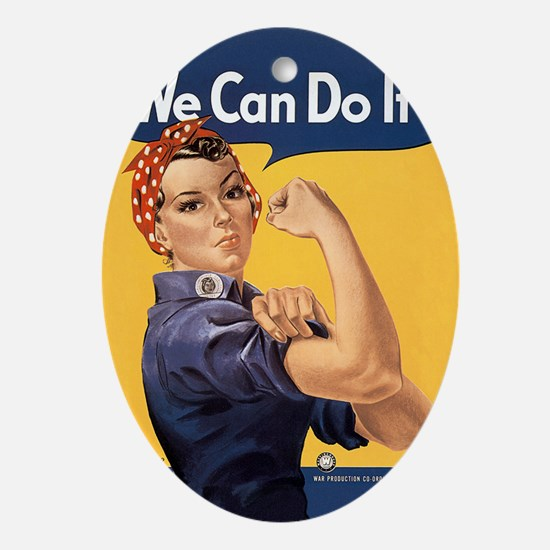 Rosie the Riveter We Can Do It Ornament (Oval)