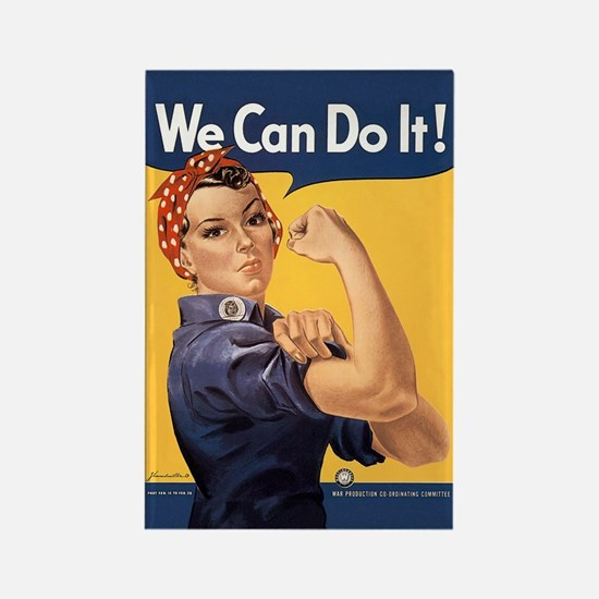 Rosie the Riveter We Can Do It Rectangle Magnet
