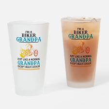 Biker Grandpa... Drinking Glass