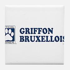 GRIFFON BRUXELLOIS Tile Coaster