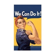 Rosie the Riveter We Can Do It Stickers