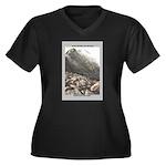 Katahdin Women's Plus Size V-Neck Dark T-Shirt