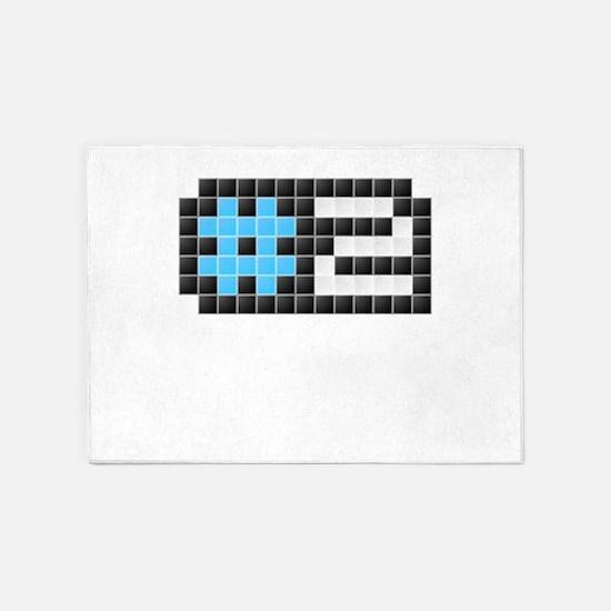 #2 (Pixel Art) 5'x7'Area Rug