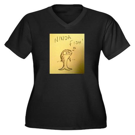 Ninja Fish #1 Women's Plus Size V-Neck Dark T-Shir