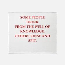 knowledge Throw Blanket
