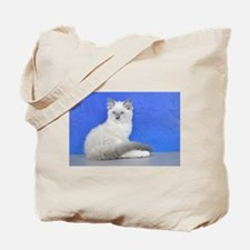 Isabelle - Blue Mitted Ragdoll Kitten Tote Bag