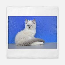 Isabelle - Blue Mitted Ragdoll Kitten Queen Duvet