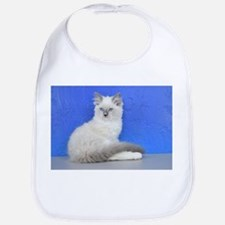 Isabelle - Blue Mitted Ragdoll Kitten Baby Bib