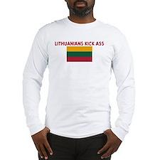 LITHUANIANS KICK ASS Long Sleeve T-Shirt