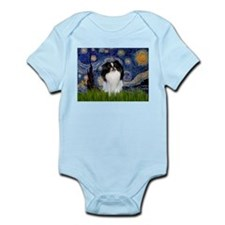 Starry Night & Japanese Chin Infant Creeper