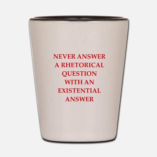 question Shot Glass