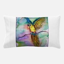 Blue/gold Macaw, parrot art! Pillow Case