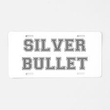 SILVER BULLET Aluminum License Plate