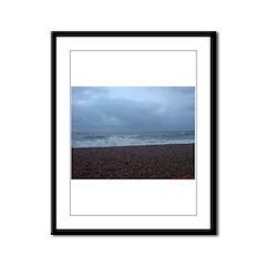 Winter Sea, Hastings, UK Framed Panel Print