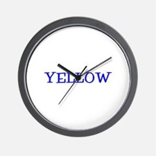 Yellow (Blue) Wall Clock