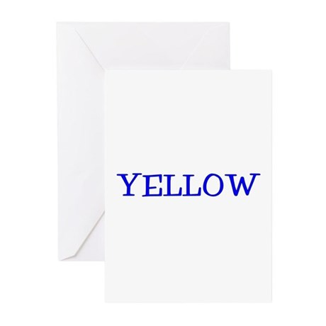 Yellow (Blue) Greeting Cards (Pk of 10)