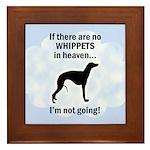 Whippets In Heaven Framed Tile