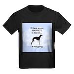Whippets In Heaven Kids Dark T-Shirt