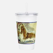 Basset Hound, dog, art! Acrylic Double-wall Tumble