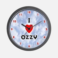 I Love Ozzy (Red/Blk) Valentine Wall Clock
