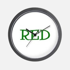 Red (Green) Wall Clock