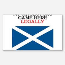 Scottish Heritage Rectangle Decal