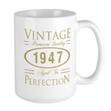 1947 birthday Large Mugs (15 oz)