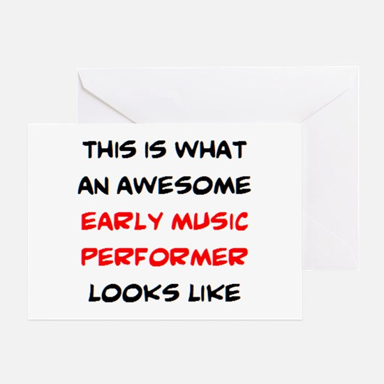 awesome early music performer Greeting Card