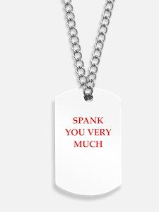spank Dog Tags
