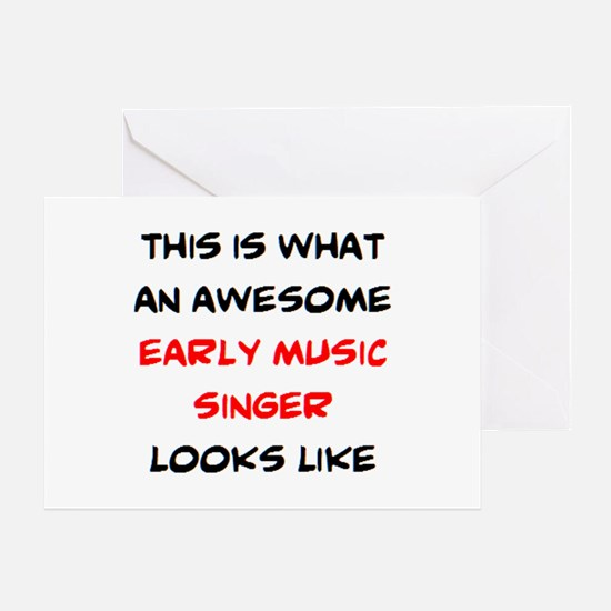 awesome early music singer Greeting Card