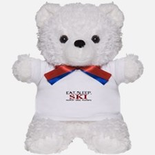 Eat Sleep Ski Teddy Bear