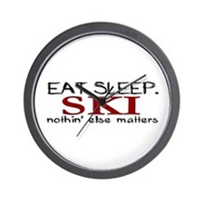 Eat Sleep Ski Wall Clock